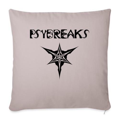 Psybreaks visuel 1 - text - black color - Housse de coussin décorative 45x 45cm