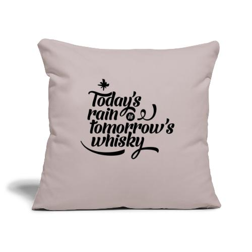 Todays's Rain Women's Tee - Quote to Front - Sofa pillowcase 17,3'' x 17,3'' (45 x 45 cm)