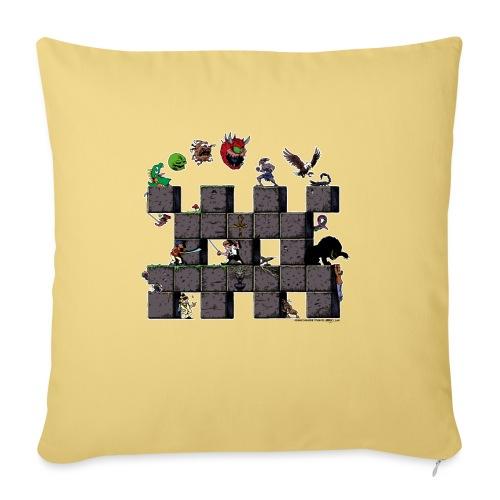 L'histoire du jeu vidéo #AbandonwareFrance - Housse de coussin décorative 45x 45cm