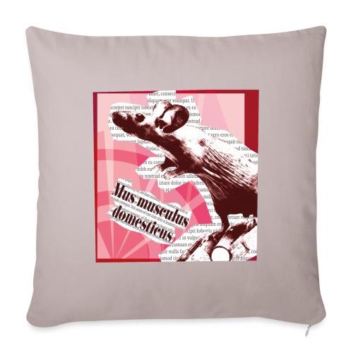 Mus musculus - punainen - Sohvatyynyn päällinen 45 x 45 cm