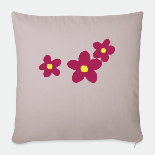 Three Flowers - Sofa pillowcase 17,3'' x 17,3'' (45 x 45 cm)