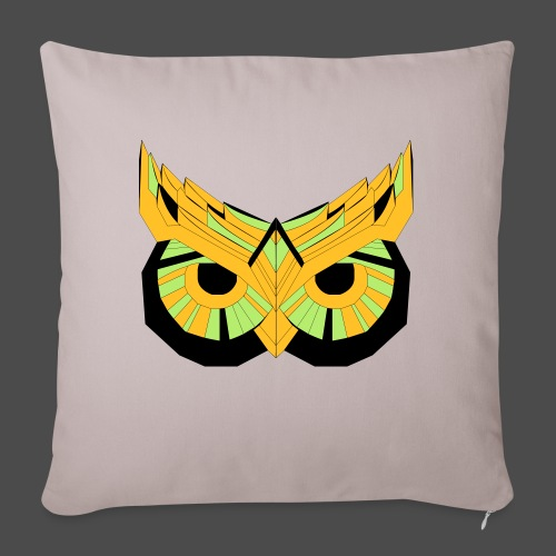 Owl Colour Redraw - Sofa pillowcase 17,3'' x 17,3'' (45 x 45 cm)