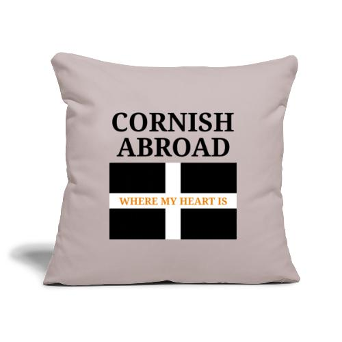 Cornish abroad - Sofa pillowcase 17,3'' x 17,3'' (45 x 45 cm)