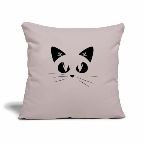 GATTO ARRABBIATO NERO 2 - ANGRY CAT BLACK 2 - Copricuscino per divano, 45 x 45 cm