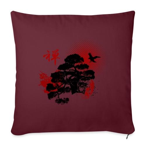 Trash Polka kanji ZEN - Housse de coussin décorative 45x 45cm