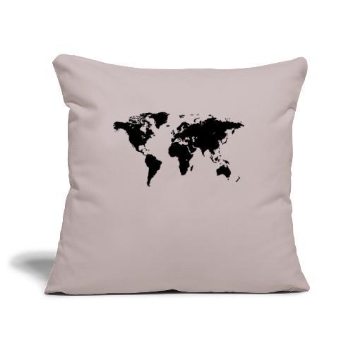 World Map - Sofakissenbezug 44 x 44 cm