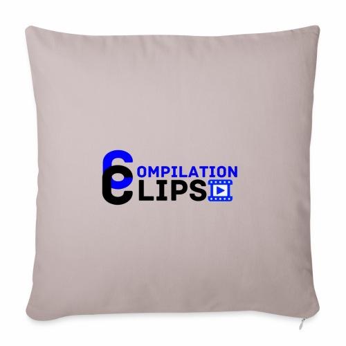 Official CompilationClips - Sofa pillowcase 17,3'' x 17,3'' (45 x 45 cm)