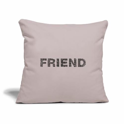 Przyjaciel - Poszewka na poduszkę 45 x 45 cm