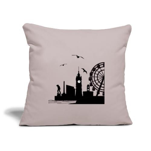 Silhouette of Margate - Sofa pillowcase 17,3'' x 17,3'' (45 x 45 cm)