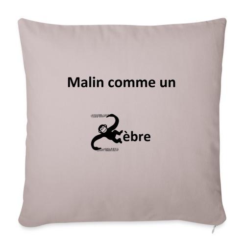 Malin comme un zèbre - Housse de coussin décorative 45x 45cm