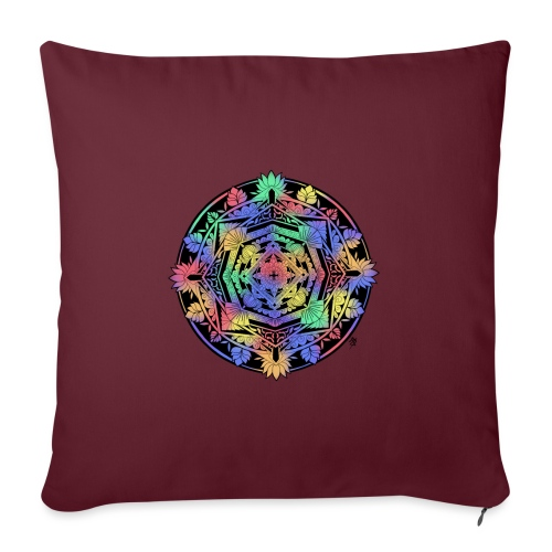 Mandala Colorful - Housse de coussin décorative 45x 45cm