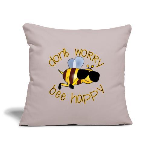 Bee happy, it´s summertime! - Sofakissenbezug 44 x 44 cm
