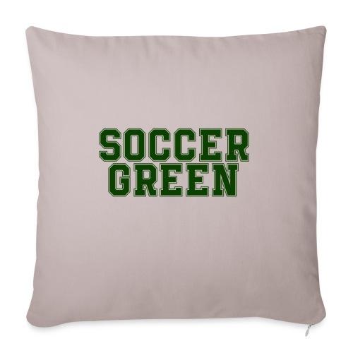Soccer Green Style Text - Copricuscino per divano, 45 x 45 cm