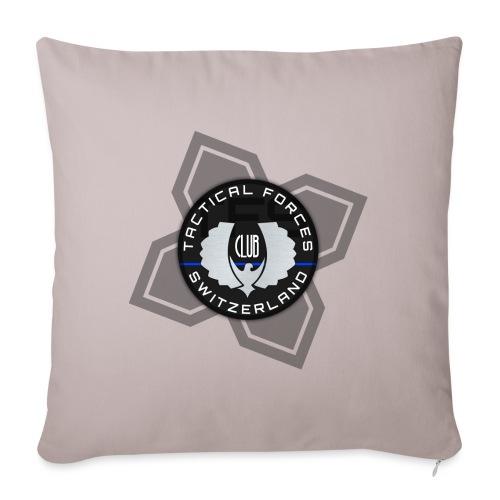 TFS Badge Black - Housse de coussin décorative 45x 45cm