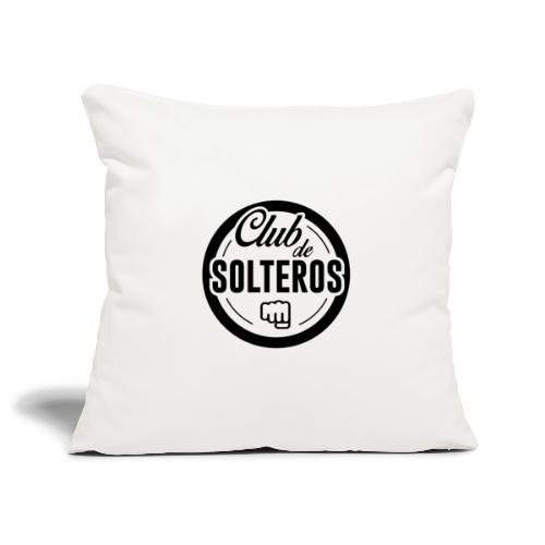 Club de Solteros (logo negro) - Funda de cojín, 45 x 45 cm
