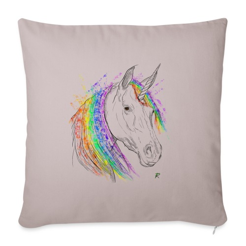 Unicorno - Copricuscino per divano, 45 x 45 cm