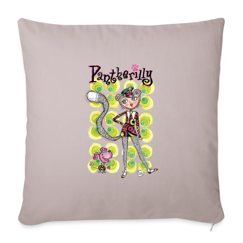 Pantherilly - Beat - Copricuscino per divano, 45 x 45 cm
