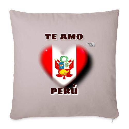 Te Amo Peru Corazon - Sofa pillowcase 17,3'' x 17,3'' (45 x 45 cm)