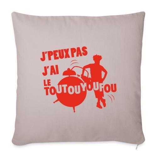 JPEUXPAS ROUGE - Housse de coussin décorative 45x 45cm