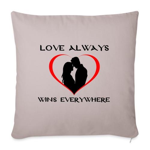 #love - Copricuscino per divano, 45 x 45 cm
