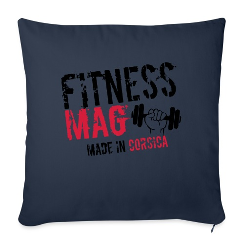 Fitness Mag made in corsica 100% Polyester - Housse de coussin décorative 45 x 45 cm