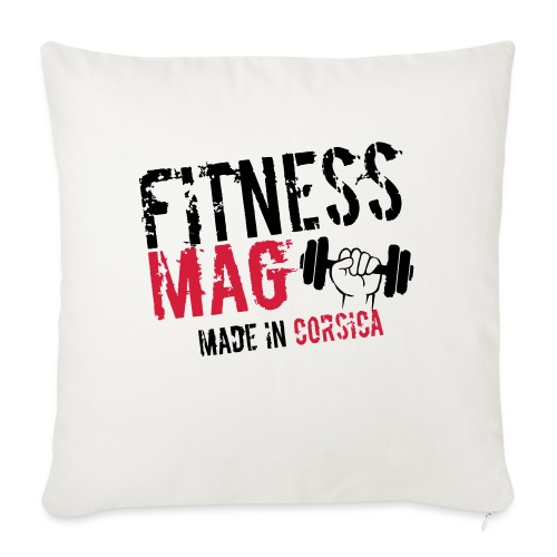 Fitness Mag made in corsica 100% Polyester - Housse de coussin décorative 45x 45cm