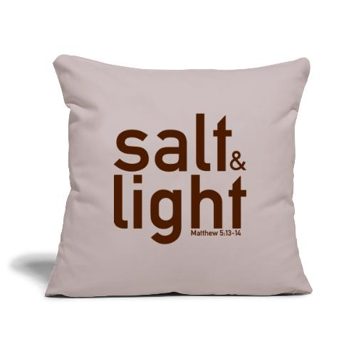 Salt & Light - Matthew 5: 13-14 - Sofa pillowcase 17,3'' x 17,3'' (45 x 45 cm)