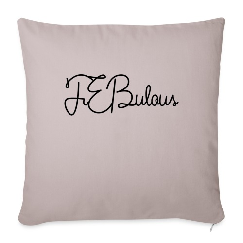 FEBulous Schreischrift - Sofa pillowcase 17,3'' x 17,3'' (45 x 45 cm)