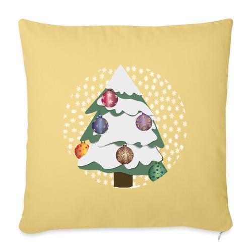 Christmas tree in snowstorm - Sofa pillowcase 17,3'' x 17,3'' (45 x 45 cm)