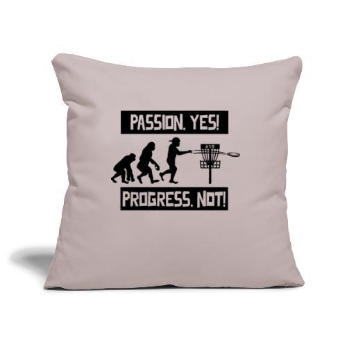 Disc golf - Passion, progress - Black - Sohvatyynyn päällinen 45 x 45 cm