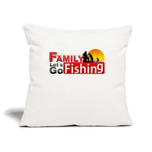 FAMILY LET´S GO FISHING FONDO - Funda de cojín, 45 x 45 cm