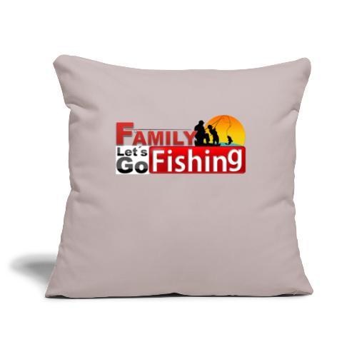 FAMILY LET´S GO FISHING FONDO - Funda de cojín, 45 x 45 cm