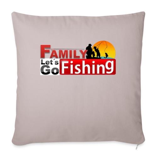 FAMILY LET'S GO FISHING FUND - Sofa pillowcase 17,3'' x 17,3'' (45 x 45 cm)