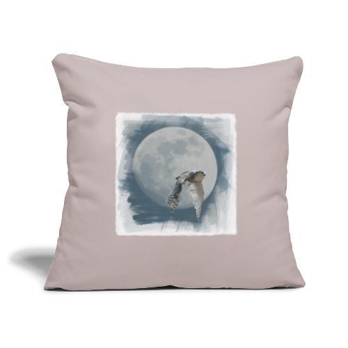 Flying owl full moon watercolor photo art - Sofa pillowcase 17,3'' x 17,3'' (45 x 45 cm)