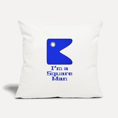Square man blue - Sofa pillowcase 17,3'' x 17,3'' (45 x 45 cm)