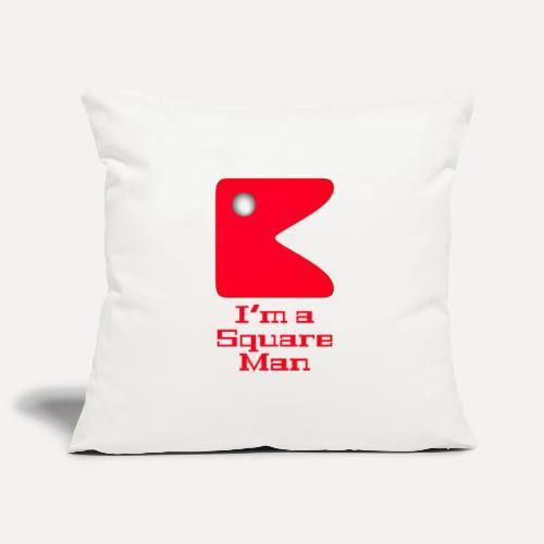 Square man red - Sofa pillowcase 17,3'' x 17,3'' (45 x 45 cm)