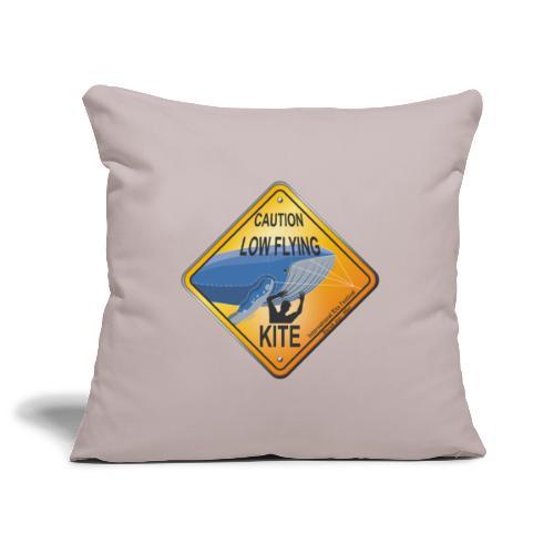 Roadsign Attention cerf-volant à basse altitude - Housse de coussin décorative 45x 45cm