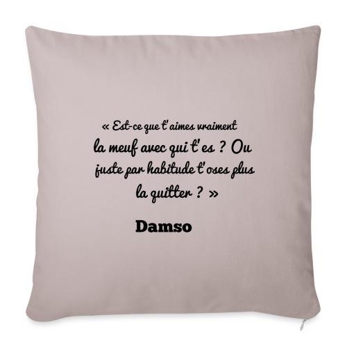 Punchline de Damso - Housse de coussin décorative 45x 45cm