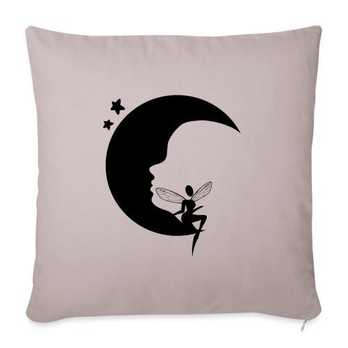 Fée de la Lune - Housse de coussin décorative 45x 45cm