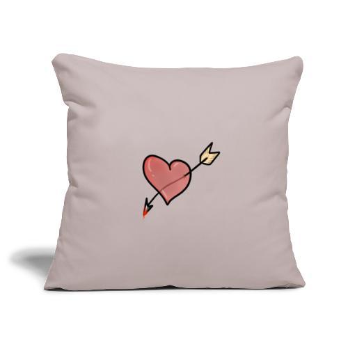 cuore dell'odio - Copricuscino per divano, 45 x 45 cm
