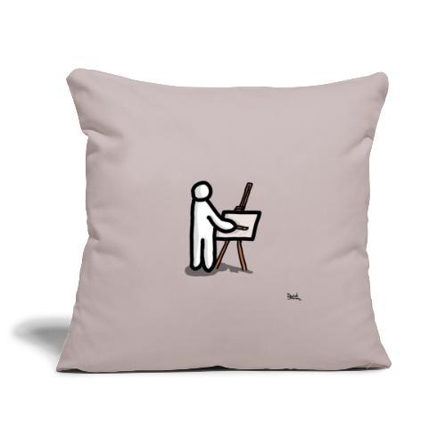 white man pittore - Copricuscino per divano, 45 x 45 cm