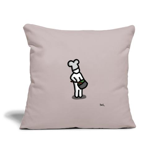 white man cuoco - Copricuscino per divano, 45 x 45 cm