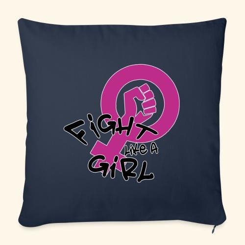 FIGHT LIKE A GIRL - Funda de cojín, 45 x 45 cm