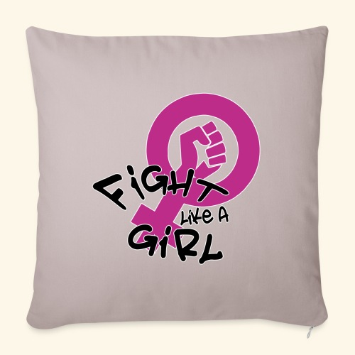 FIGHT LIKE A GIRL - Funda de cojín, 45 x 45 cm