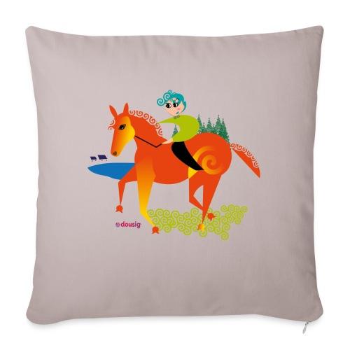 cheval dousig - Housse de coussin décorative 45x 45cm