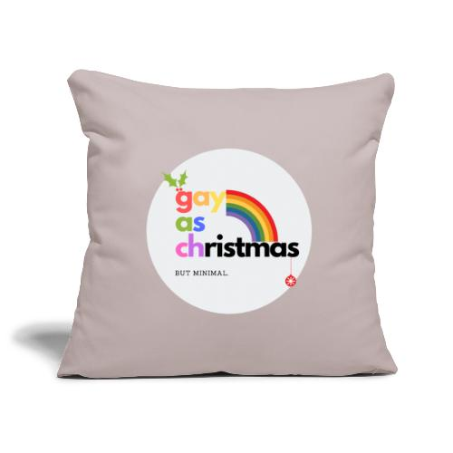 Gay as Christmas but Minimal Circle with Rainbow - Sofa pillowcase 17,3'' x 17,3'' (45 x 45 cm)