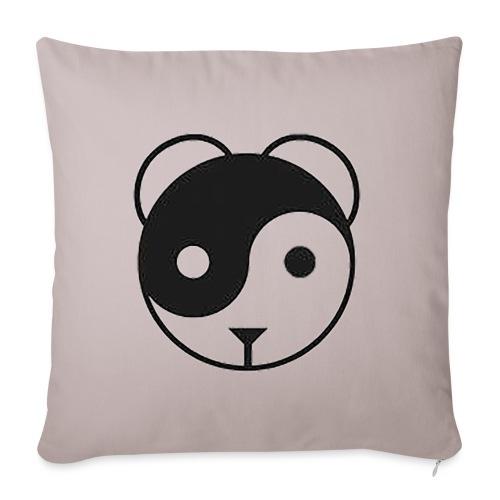 panda yin-yang - Housse de coussin décorative 45x 45cm