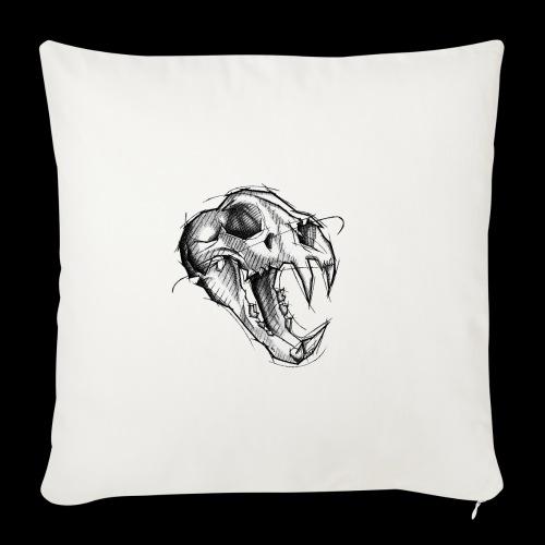 Teschio Tigre - Copricuscino per divano, 45 x 45 cm