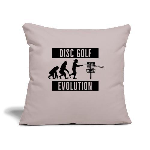 Disc golf - Evolution - Black - Sohvatyynyn päällinen 45 x 45 cm