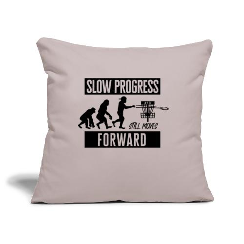 Disc golf - Slow progress - Black - Sohvatyynyn päällinen 45 x 45 cm